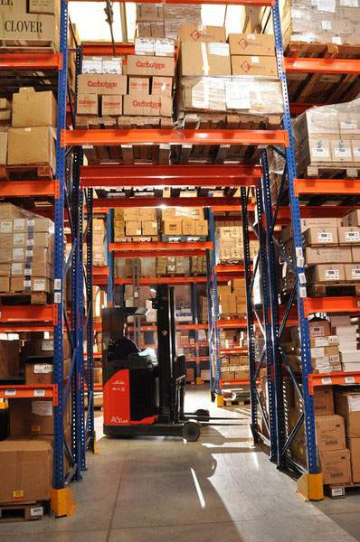 racks combinados, carga manual y frontal